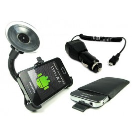 Samsung Galaxy Ace autoteline, laturi ja suojapussi