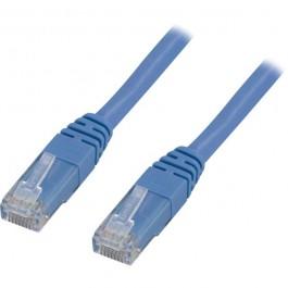 Cat5e UTP verkkokaapeli, 0.5m sininen