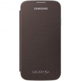 Samsung Flip cover suojakotelo, Galaxy S4, tummanruskea