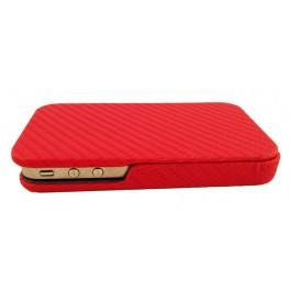iPhone 4 ja 4S läpällinen suojakotelo (punainen)