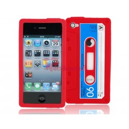 iPhone 4 / 4S C-kasetti suojakuori (pinkki)