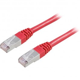 Cat6 FTP verkkokaapeli, 0.5m punainen