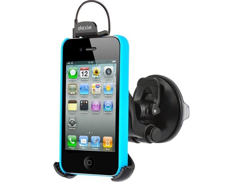 Dexim autoteline matkapuhelimille, säädettävä kiinnike imukupilla