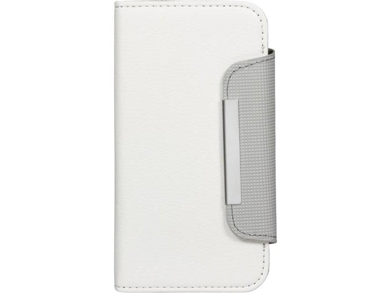 Wallet Samsung Galaxy S3 suojakotelo, valko/harmaa