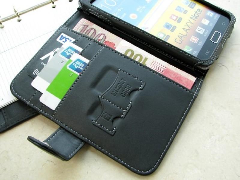 Samsung Galaxy Note nahkainen suojakotelo