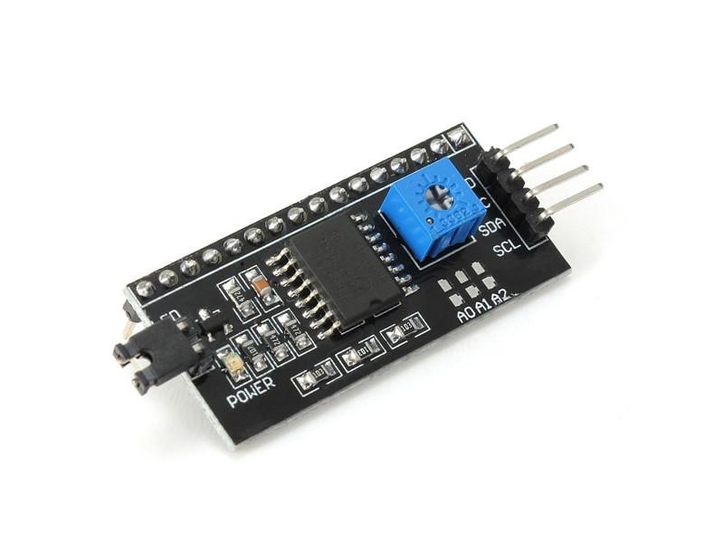I2C-väyläinen 1602-näytön ohjainmoduuli Arduinolle