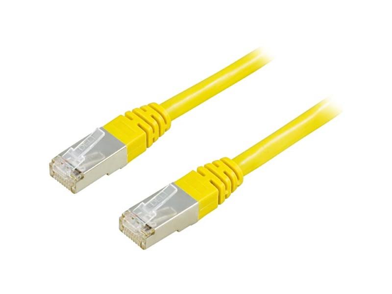 Cat6 FTP verkkokaapeli, 0.5m keltainen