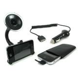 iPhone 4 ja 4S autoteline, laturi ja suojapussi