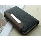 Wallet-suojakotelo iPhone 4 ja 4S (musta)