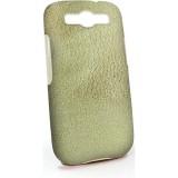Samsung Galaxy S3 tekonahka/muovikuori (kultainen)
