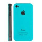 iPhone 4 kovamuovinen suojakuori (syaani)