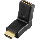 HDMI - HDMI taivutettava kulma-adapteri