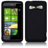 HTC 7 Trophy silikoninen suojakuori (musta)