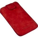 Deltaco nubuck-nahkainen suojapussi iPhone 4/4s:lle (punainen)