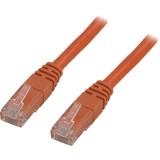 Cat5e UTP verkkokaapeli, 0,5m oranssi