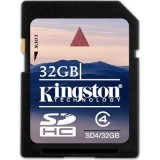 Kingston 32GB SDHC Class 4 muistikortti