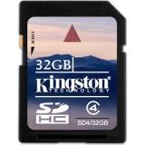 Kingston 32GB SDHC Class 4 muistikortti