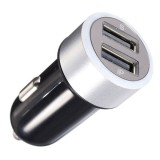 USB-autolaturi 2400mA, 2xUSB