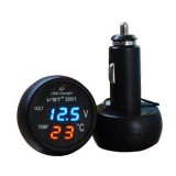 Auton sisälämpömittari / USB-laturi