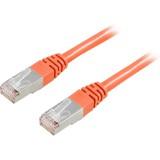 Cat6 FTP verkkokaapeli, 0.5m oranssi