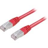 Cat6 FTP verkkokaapeli, 1m punainen
