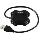 4-porttinen USB 2.0 hubi, musta