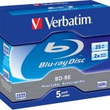 Verbatim BD-RE 2x 25GB/200min jewel case, 5-Pakkaus