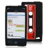 iPhone 4 / 4S C-kasetti suojakuori (musta)